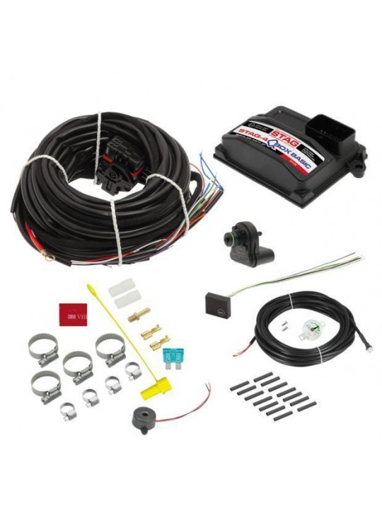 Электроника STAG- 4 Q-BOX Basic, 4 цил., разъем тип Valtek, ДТР фильтр проводка, LED-300
